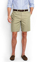 "Lands' End Men's Traditional Fit 9"" Lightweight Casual Chino Shorts-Steeple Gray"