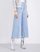 Marc Jacobs Cropped wide-leg high-rise jeans
