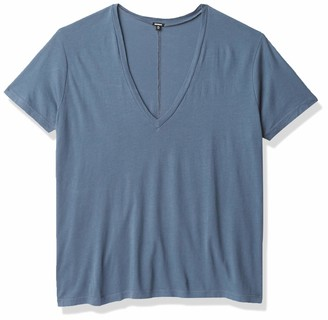 Monrow Women's Relaxed V Neck