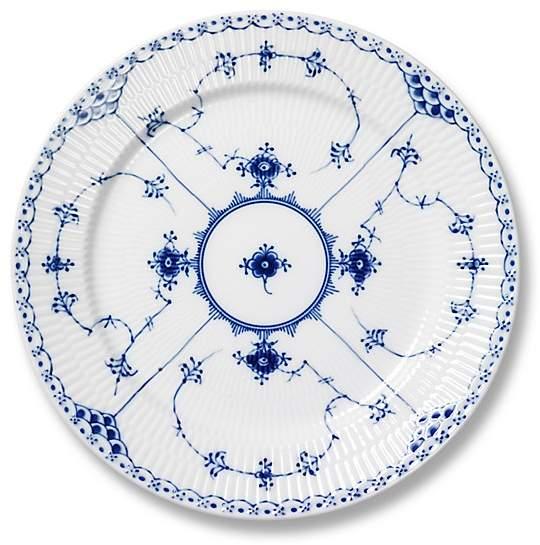"Royal Copenhagen Blue Fluted Half Lace"" Dinner Plate"