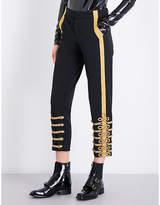 A.F.Vandevorst Military tapered gabardine trousers