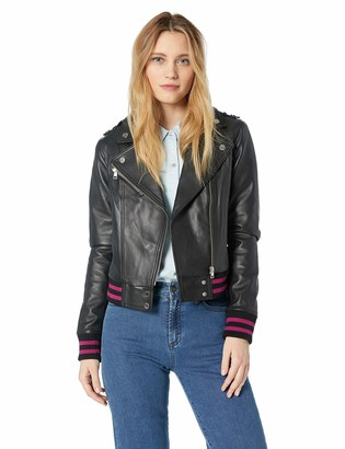 Soia & Kyo Women's Arisa Bomber Fit Leather Jacket