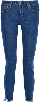 IRO Jarod Cropped Frayed Mid-rise Skinny Jeans