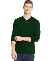 Alfani Men's Long-Sleeve Split Crewneck T-Shirt