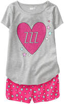 Crazy 8 Heather Gray Heart 'Zzz' Pajama Set - Infant, Toddler & Girls