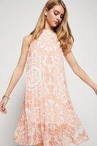 BCBGeneration Summer Flower-Print Halter Midi Dress