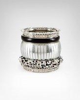 Bebe Seed Bead & Textured Bangle Set
