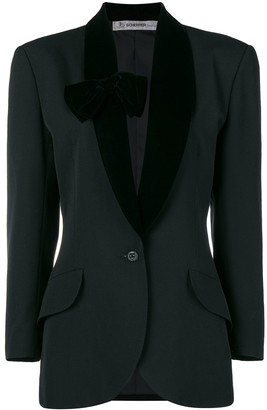 Jean Louis Scherrer Pre Owned Bow-Detail Tuxedo Jacket