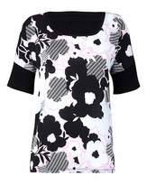 Fashion World Woven Front Jersey Top With Dip Back