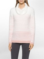 Calvin Klein Marled Eyelash Turtleneck Top