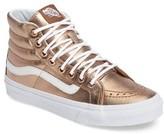 Vans Women's 'Sk8-Hi Slim' Metallic Leather Sneaker