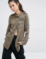 Only Army Patched Shirt
