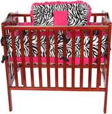 Baby Doll Bedding Baby Doll Zebra Minky Cradle Bedding Set, Pink