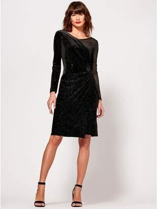 M&Co Sparkly velvet dress