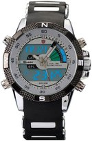 Shark SH041-US2 Men's Digital LCD Army Date Day Quartz Sport Rubber Strap Military Watch