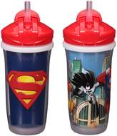 Playtex Sipsters Stage 3 Super Friends Straw Sippy Cups for Boys - 9 Ounce - 2 Count