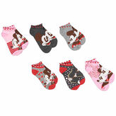 Asstd National Brand Mickey Mouse Women's 6pk No Show Socks