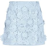 River Island Womens Light blue 3D floral lace mini skirt