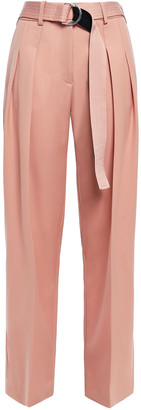 Victoria Victoria Beckham Belted Pleated Wool-twill Tapered Pants