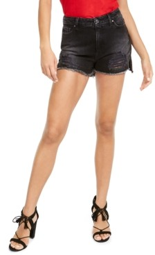 GUESS Claudia Distressed Denim Shorts