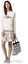 Tommy Hilfiger Silk Vintage Print Skirt