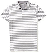 Bobby Jones Golf Rule 18 Control Horizontal-Stripe Short-Sleeve Polo Shirt