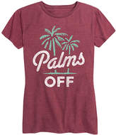 Instant Message Women's Women's Tee Shirts HEATHER - Heather Wine 'Palms Off' Relaxed-Fit Tee - Women