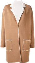 Le Tricot Perugia contrast coat - women - Cotton/Elastodiene/Polyamide - M