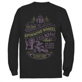 Disney Men's Disney's Sleeping Beauty The Spinning Wheel Poster Long Sleeve Tee