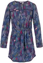 Fat Face Girls' Woodland Print Dress, Navy
