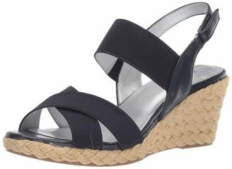 Bandolino Womens Hearsay Espadrille Sandal Blue 10 M
