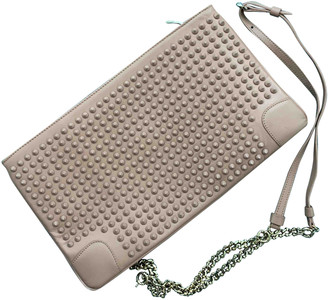 Christian Louboutin Loubiposh Beige Leather Clutch bags