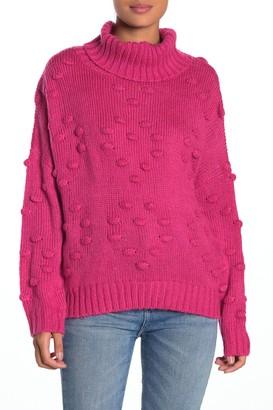 John & Jenn Popcorn Knit Turtleneck Sweater