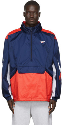 Reebok Classics Navy and Orange Team Track Jacket