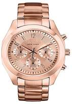 Caravelle New York by Bulova Women's Chronograph Rose Gold-Tone Stainless Steel Bracelet Watch - 44L115