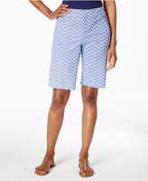 Charter Club Printed Twill Shorts, Created for Macy's