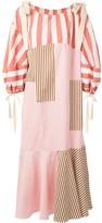Lee Mathews patchwork striped shift dress