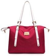 SOKDO Perfect Fashion Tote Bag Imported Waterproof Nylon Shoulder Bag Elegant Large Capacity Shine Pure Color Handbag for Women