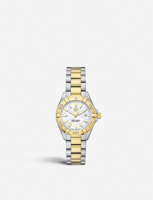 Tag Heuer WBD1420.BB0321 Aquaracer mother-of-pearl and stainless steel quartz watch