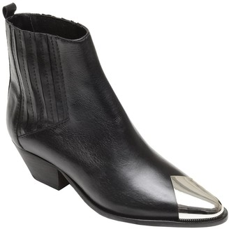 Schutz Luccyen Cap Toe Leather Bootie