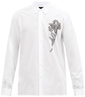 Ann Demeulemeester Floral-print Cotton-canvas Shirt - 120-001