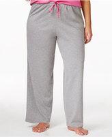 Hue Plus Size Polka Dot Knit Pajama Pants