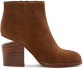 Alexander Wang Brown Notched Heel Gabi Ankle Boots