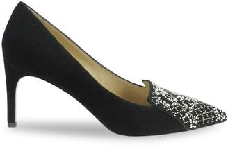 Ron White Cadence Crystal Suede Stiletto Pumps