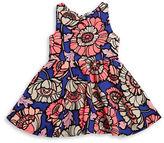 Rare Editions Girls 2-6x Textured Floral Dress