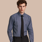 Burberry Modern Fit Check Cotton Poplin Shirt