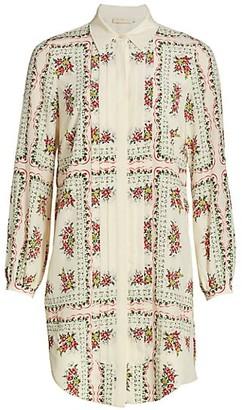 Tory Burch Cora Floral Silk Shirtdress