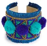 Panacea Multi Beaded Pom Cuff