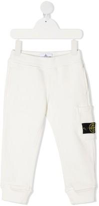 Stone Island Junior Logo-Patch Cotton Trousers