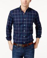 Club Room Men's Windowpane Oxford Stretch Shirt, Created for Macy's